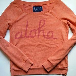 🐞 American Eagle Aloha Sweatshirt SZ XS
